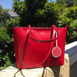 🌶🍓Kate Spade Loli Large Red Tote